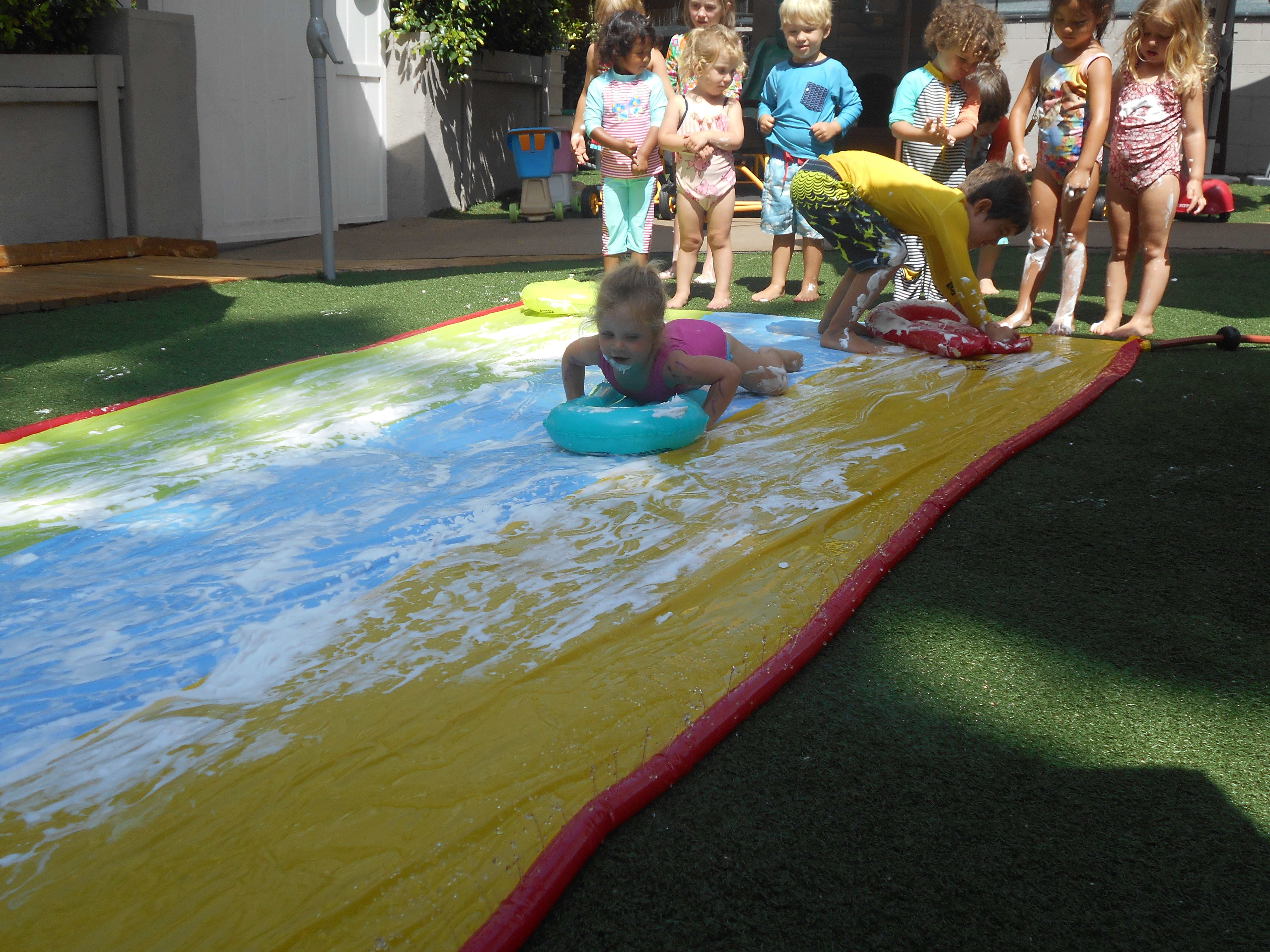 slip and slide and foam montana preschool santa monica